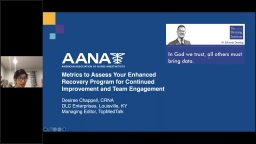 Metrics to Assess Your Enhanced Recovery Program for Continued Improvement and Team Engagement