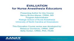 Educator Series: Evaluation Methods